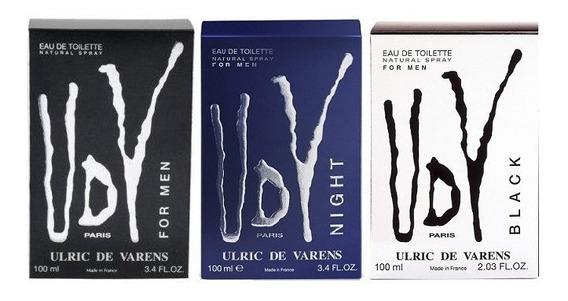 Kit 3 Perfume Udv For Men Udv Black Udv Night 100ml Original