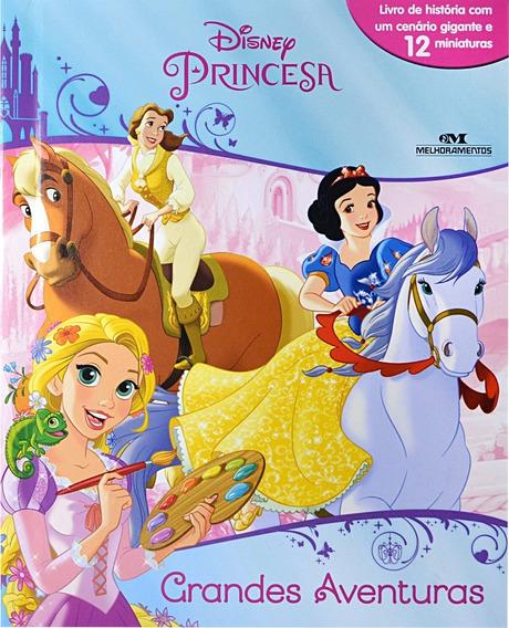 Livro Com 12 Miniaturas - Princesas Grandes Aventuras