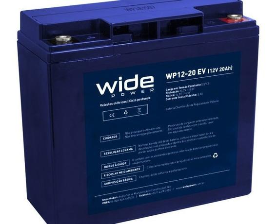 Bateria Selada Gel 12v 20ah Deep Cycle - 6-dzm-20 Wp12-20 Ev