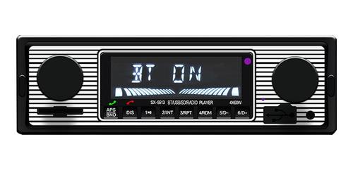 Bt Vintage Radio Reproductor Mp3 Estéreo Usb Aux Coche Clási