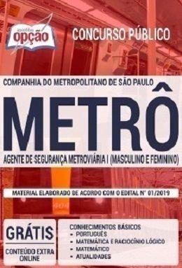 Apostila Metrô-sp 2019 - Agente De Segurança Metroviária I