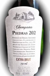Champagne Piedras 202 Extra Brut O Rosado- 1 Botella X 750c