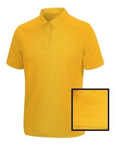 Camiseta Polo Bordada No Peito Costas
