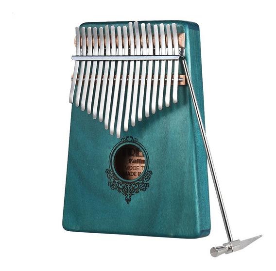 17-chave Kalimba Portátil Polegar Piano Mbira Mogno Madeira