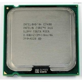 Processador Intel Core 2 Duo E7400 2.80ghz 1066mhz Mod Slb9y