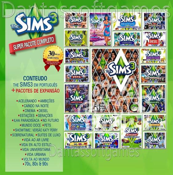 The Sims 3 Todas Expansões Pacotes Objetos 2019 Não Pg Frete