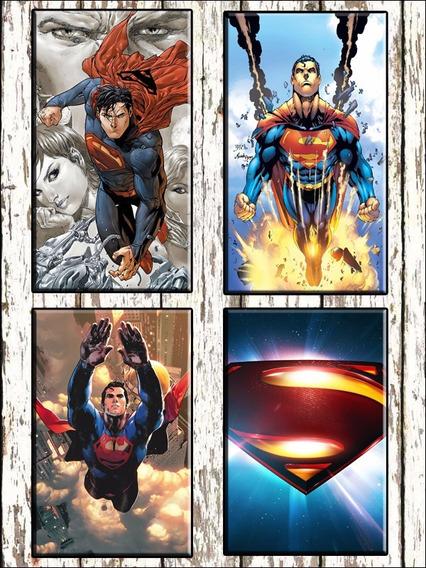 Superman Batman Comic Combo 4 Cuadros Modernos C/u 40x30