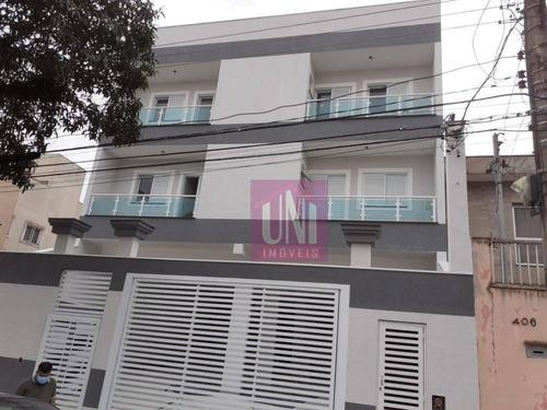 Apartamento Com 2 Dormitórios À Venda, 59 M² Por R$ 355.000,00 - Campestre - Santo André/sp - Ap1922