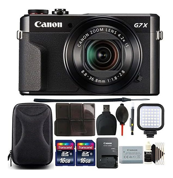 Camara Canon G7x Mark Ii Powershot 20.1mp Digital Black Wi ®