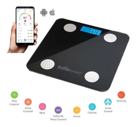 Bascula Digital Con Bluetooth Peso Calorías Grasa Músculo