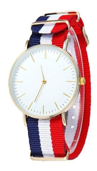 Reloj Nautico Francia Mar Mujer Rojo Azul Hombre Moda Dama