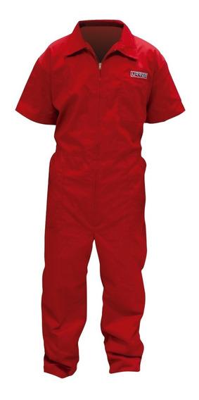 Overol Industrial Uso Rudo Urrea Talla A Elegir Color Rojo