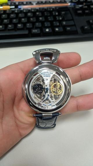Relógio De Pulso Stuhrling 3920 3920.1 Prata Imperador