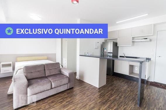 Studio No 9º Andar Mobiliado Com 1 Dormitório E 1 Garagem - Id: 892863151 - 163151