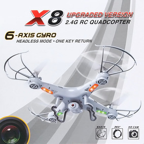 Drone X8 4 Canais 2.4ghz Com Câmera 2.0mp 6 Axis Gyro - Rtf