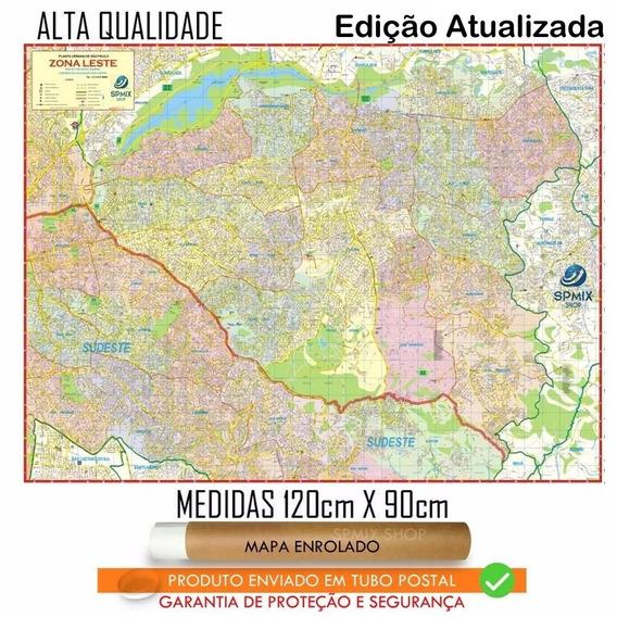 Mapa Gigante Da Zona Leste De São Paulo 120 X 90cm Enrolado