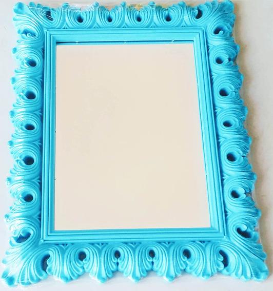 Espelho Retro Art House Com Moldura Trabalhada Colors 20cm