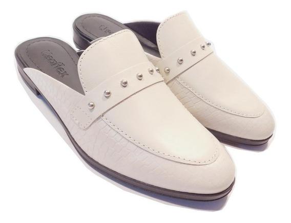 Sapato Mule Feminino Usaflex - Ref Ab8303 Pérola