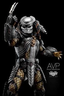 Hot Toys - Avp Scar Predator - Nuevo Cerrado Nunca Expuesto!