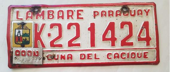 Placa Carro Antiga Ferro Paraguai Lambaré K-221424