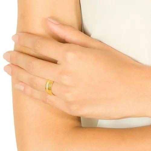 Aliança Vivara Ouro Amarelo Com Diamante - 8mm