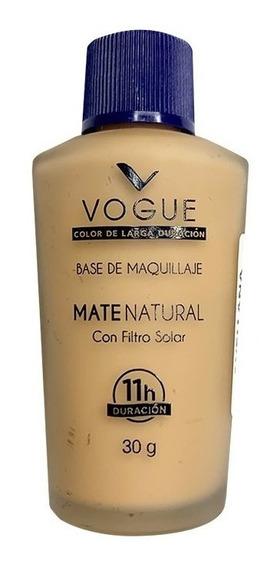 Base De Maquillaje Liquida Vogue Mate Natural Filtro Solar