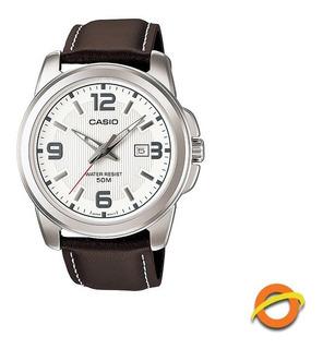 Reloj Casio Mtp-1314l Cuero Autentico Con Fecha