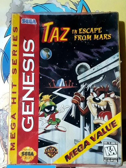 Taz In Escape From Mars Para Mega Drive Completo