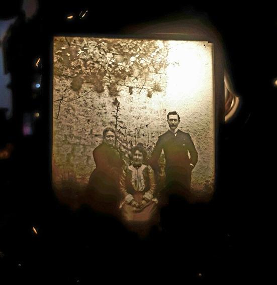 Antigua Foto Negativo Vidrio De Colección