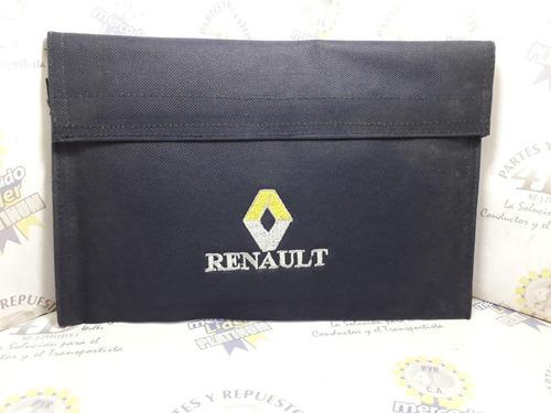 Porta Documentos Renault (azul Marino) Flete Gratis Mrw