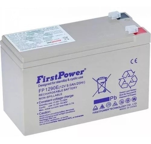 Kit 2 Bateria 12 Volts 9 Ah Selada Fp1290e Firstpower