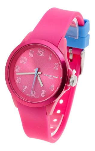 Reloj Knock Out Mujer 8939 Caucho Colores Sumergible