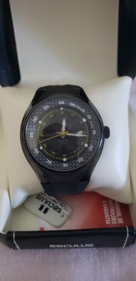 Relógio Seculus Analógico Social 50018gpsbpu1 Com Calendário