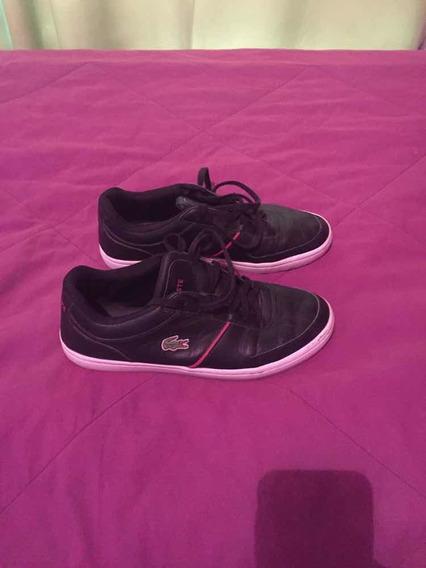 Zapatillas Lacoste Cuero Negra