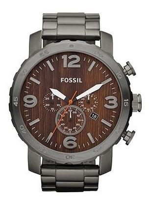 Relogio Fossil Nate Jr1355 Original Madeira Prova Dagua 100m