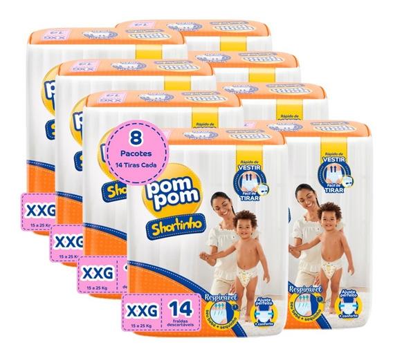 Kit Pom Pom Shortinho Jumbinho Xxg 112 Unidades