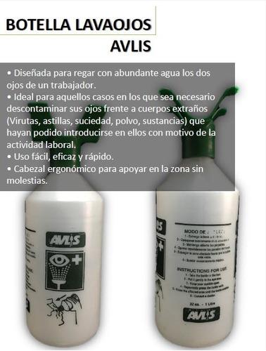 Imagen 1 de 6 de Botella Avlis Lavaojos 1 Litro ( Sin Solución)