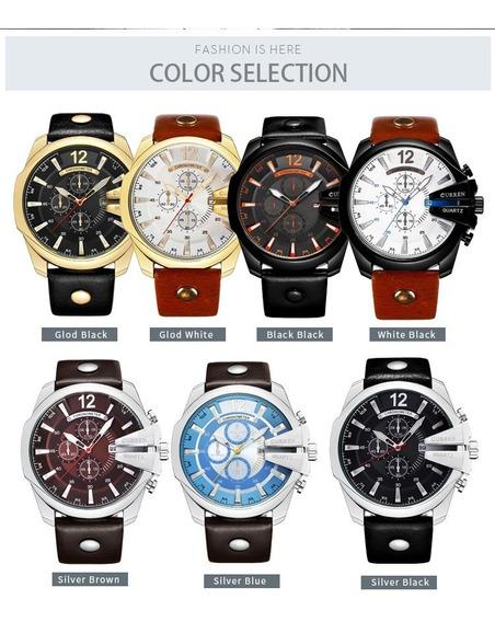 Promoção Kit Com 3 Relógios Curren 8176. Luxo. Robusto
