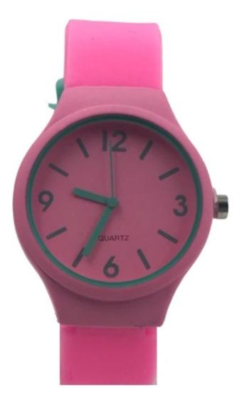 Relógio Feminino Masculino Colorido Pulseira Silicone