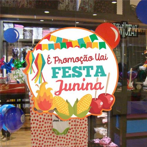 Adesivo Vitrine Festa Junina, Adesivo São João Vitrine