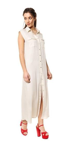 Vestido Largo De Fibrana Satinada Mia Loreto Modelo Judy