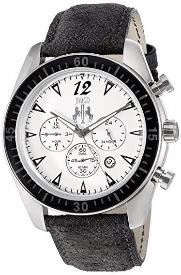 Reloj Jivago Timeless Cuero Negro Multifunción Hombre Jivago