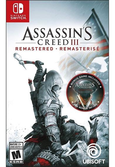 Assassins Creed Iii Remastered Switch Mídia Física Lacrado
