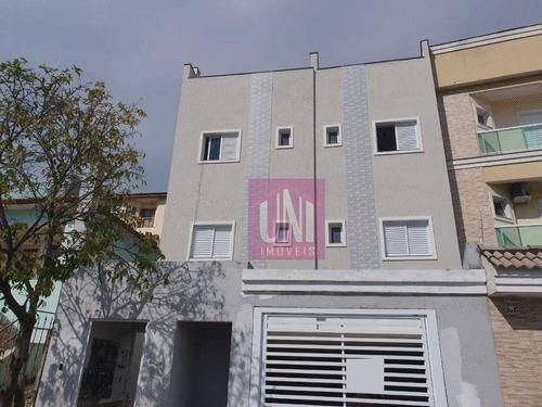Cobertura Com 2 Dormitórios À Venda, 100 M² Por R$ 360.000,00 - Parque Das Nações - Santo André/sp - Co0955