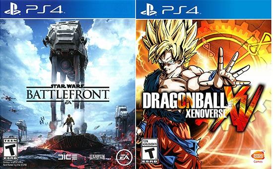Combo Dragon Ball Xenoverse + Star Wars Battlefront Para Ps4