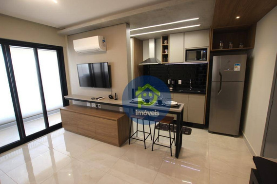 Apartamento Mobiliado, Acabamento Impecável, 1 Dormitório Para Compra, Próximo Ao Hospital De Base E Faculdades De Medicina Faceres. - Ap7320