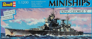 Barco King George V Revell Miniships Escala 1/1200