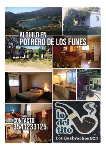 Imagen 1 de 13 de Lo Del Tito - Alquiler Vacacional, Potrero De Los Funes