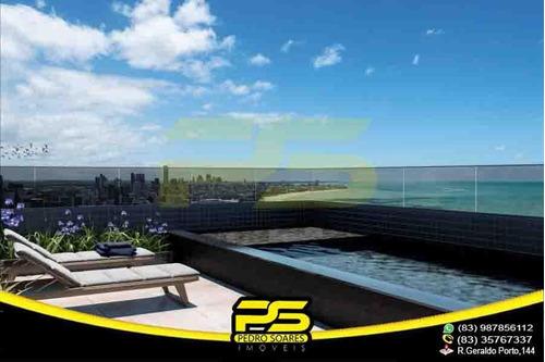 Apartamento Novo, 02 Quartos, Área De Lazer Na Cobertura, 61,72m² Por Apenas R$ 299.990,00 Em Manaíra, João Pessoa - Paraíba - Ap2589