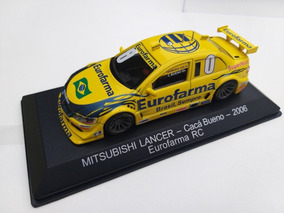 Miniatura Stock Car Lancer Eurofarma Cacá Bueno 1/43